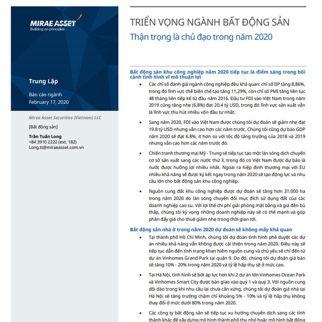 MASVN: Tổng quan ngành bất động sản Việt Nam