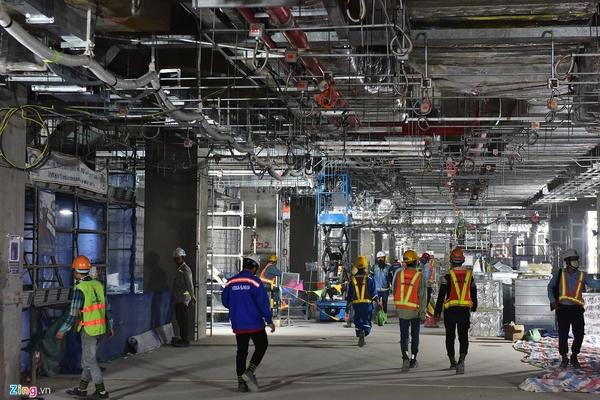 Toàn cảnh ga ngầm metro đang hoàn thiện ở TP HCM