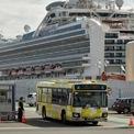 <p> Xe chở hành khách rời khỏi du thuyền Diamond Princess ở Nhật ngày 19/2. Quá trình đưa khoảng 2.000 hành khách trên du thuyền Diamond Princess đã kết thúc vào ngày 22/2. Các hành khách nước ngoài sẽ được đưa về nước trong khi nhóm người Nhật Bản sẽ bị cách ly trong 14 ngày tại gần Tokyo. Sau khi hành khách cuối cùng rời đi, hơn 1.000 thủy thủ đoàn của Diamond Princess sẽ bắt đầu 14 ngày cách ly. Ảnh: <em>AFP</em>.</p>