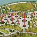 """<p> """"Thành phố"""" có quần thể công viên phức hợp ven sông diện tích 36 ha, bao gồm 15 công viên chủ đề khác nhau, có sản phẩm lấy cảm hứng từ những công trình nổi tiếng nước ngoài.</p>"""