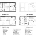 <p> Hình ảnh mặt cắt của ngôi nhà ở các tầng.</p>