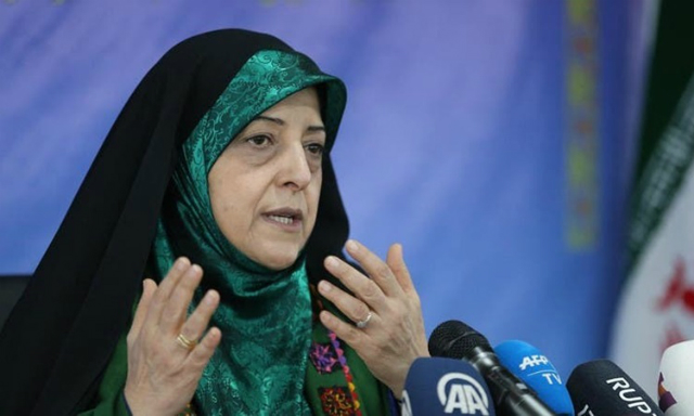 Bà Masoumeh Ebtekar, Phó tổng thống phụ trách vấn đề phụ nữ và gia đình của Iran. Ảnh: AFP.
