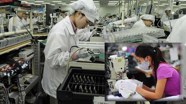 Điện tử và dệt may là 2 ngành chịu ảnh hưởng nặng do dịch Covid-19 làm gián đoạn chuỗi cung ứng nguyên liệu.