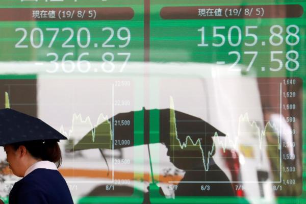 Cổ phiếu châu Á giảm 1 - 4%, thị trường thế giới hướng tới tuần giảm mạnh nhất 11 năm