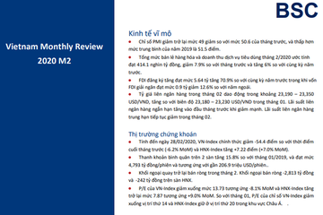 BSC: Vĩ mô và thị trường tháng 2 - Cơ hội trong rủi ro