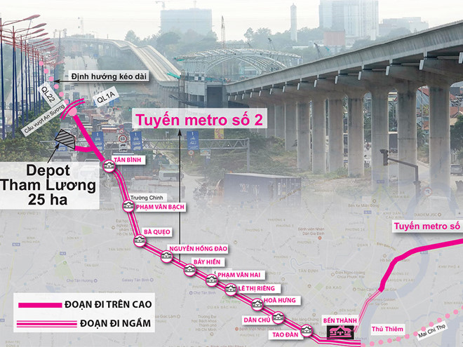 Cưỡng chế trường hợp không chịu bàn giao mặt bằng cho tuyến metro số 2