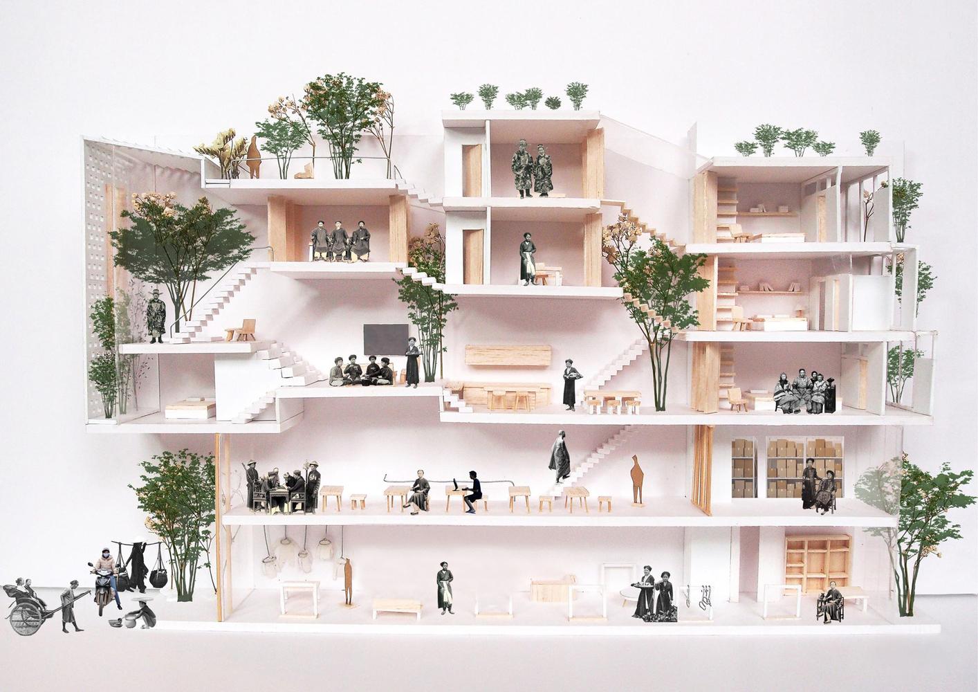 Ngôi nhà Hà Nội có 2 lớp mặt tiền, tách biệt với ồn ào của phố lớn - Ảnh 10.