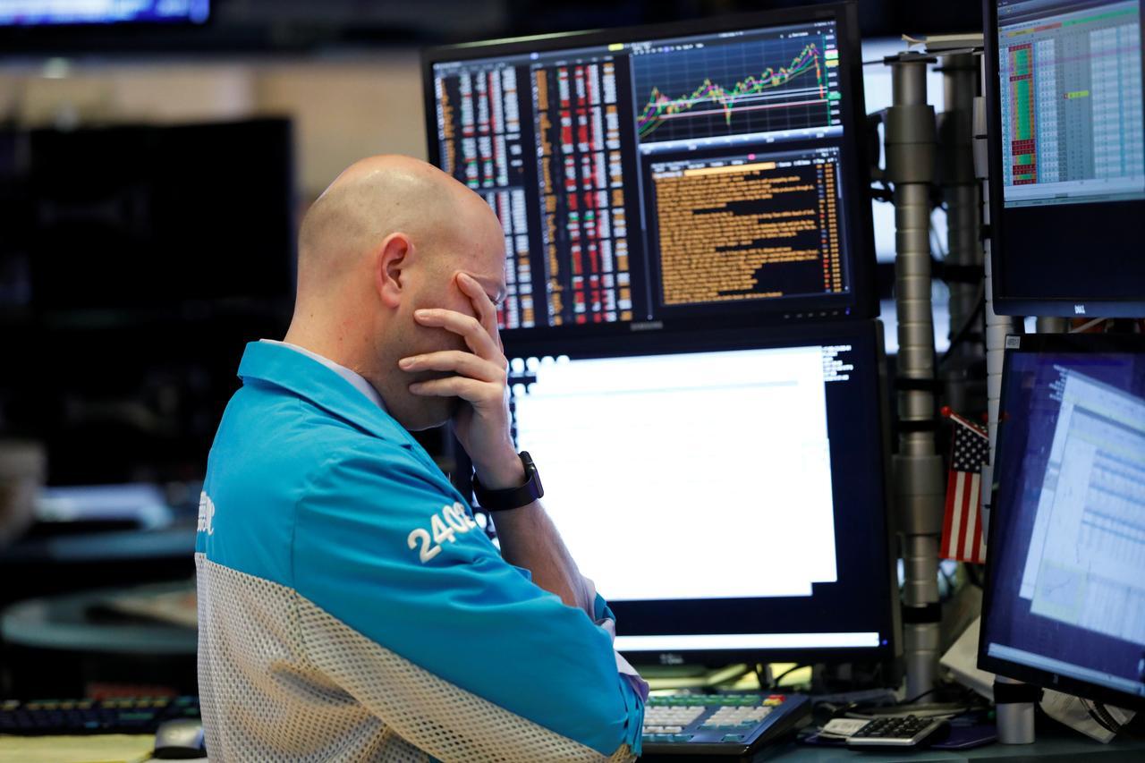 Phố Wall bị bán tháo, Dow Jones vào thị trường giá xuống