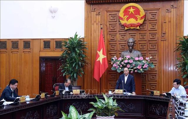 Thủ tướng Nguyễn Xuân Phúc phát biểu tại một cuộc họp. Ảnh: Thống Nhất/TTXVN.