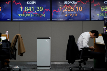 Cổ phiếu châu Á tiếp tục giảm, một số thị trường phục hồi