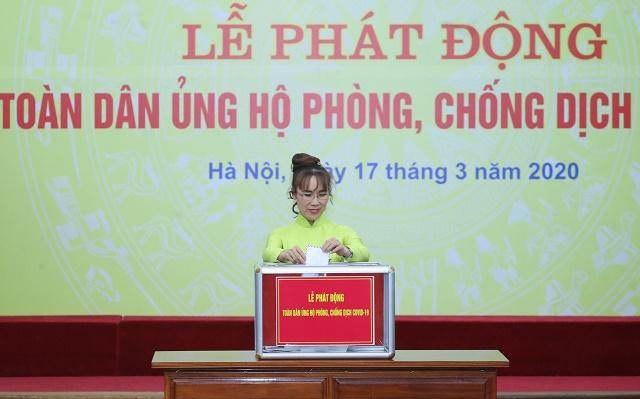 Bà Nguyễn Thị Phương Thảo tại lễ phát động. Ảnh: HDBank.