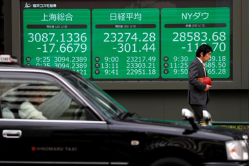 Thêm ngân hàng trung ương hạ lãi suất khẩn cấp, chứng khoán châu Á trái chiều