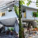 <p> Do đó, cả kiến trúc sư và khách hàng đều đưa ra ý tưởng ngôi nhà nên hài hòa với màu xanh cây lá. Sự thoải mái và đặc biệt của nó không nên khác biệt nhiều với hàng xóm bên cạnh.</p>