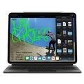 """<p class=""""Normal""""> iPad Pro 2020 đi kèm Magic Keyboard, mang khả năng của một laptop thực thụ với bàn phím dạng cắt kéo với hành trình phím dài hơn, các phím có hỗ trợ đèn nền giúp việc gõ phím trong không gian tối tốt hơn. Ngoài ra, bàn phím còn có trackpad giống laptop cùng một cổng USB C.</p> <p class=""""Normal""""> Bàn phím Magic Keyboard có giá 299 USD cho iPad Pro 11 inch và 349 USD cho iPad Pro 12,9 inch.</p>"""