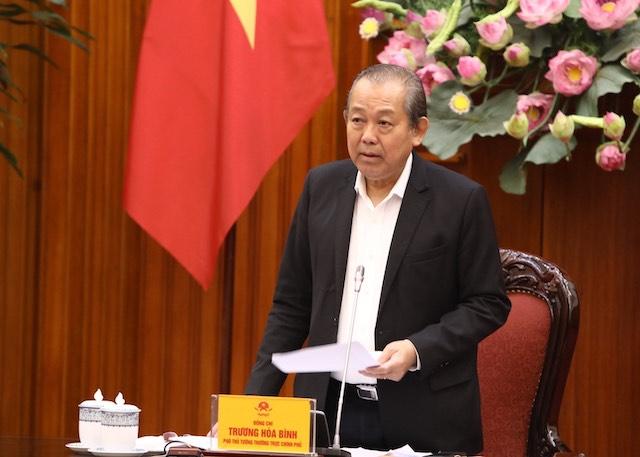 Phó Thủ tướng Trương Hòa Bình làm việc với Ủy ban Quản lý vốn Nhà nước tại doanh nghiệp