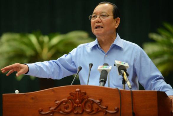 Cách chức nguyên bí thư Thành ủy TP.HCM với ông Lê Thanh Hải - Ảnh 1.