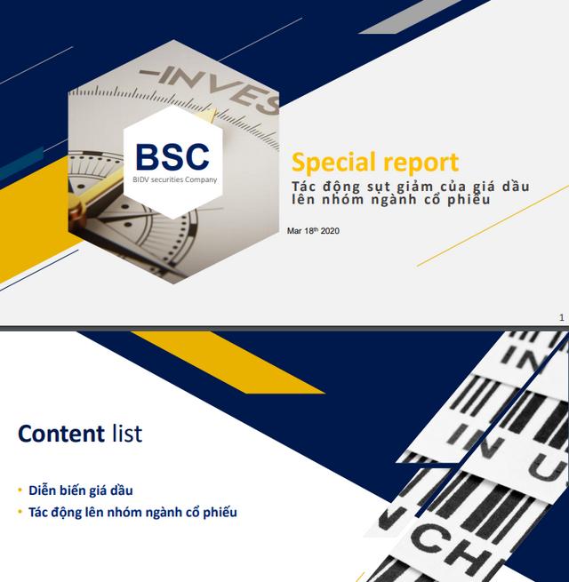 BSC: Tác động sụt giảm của giá dầu lên nhóm ngành cổ phiếu