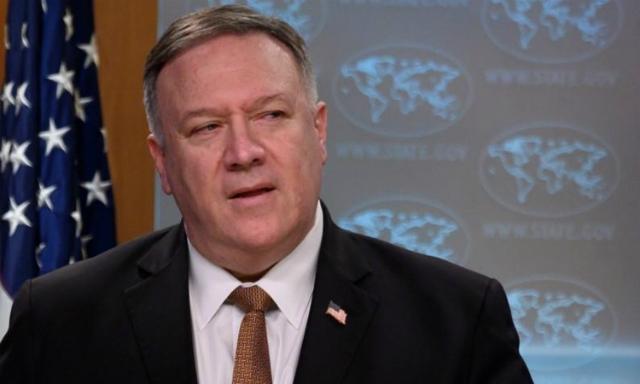 Ngoại trưởng Mỹ Mike Pompeo tại cuộc họp báo ở Bộ Ngoại giao hôm 25/3. Ảnh: Reuters.