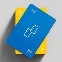 """<p class=""""Normal""""> Thẻ bài được trang trí với các logo, biểu tượng và chữ số được sắp xếp hợp lý theo phong cách thẩm mỹ đương đại, trẻ trung và giàu ý nghĩa.</p>"""