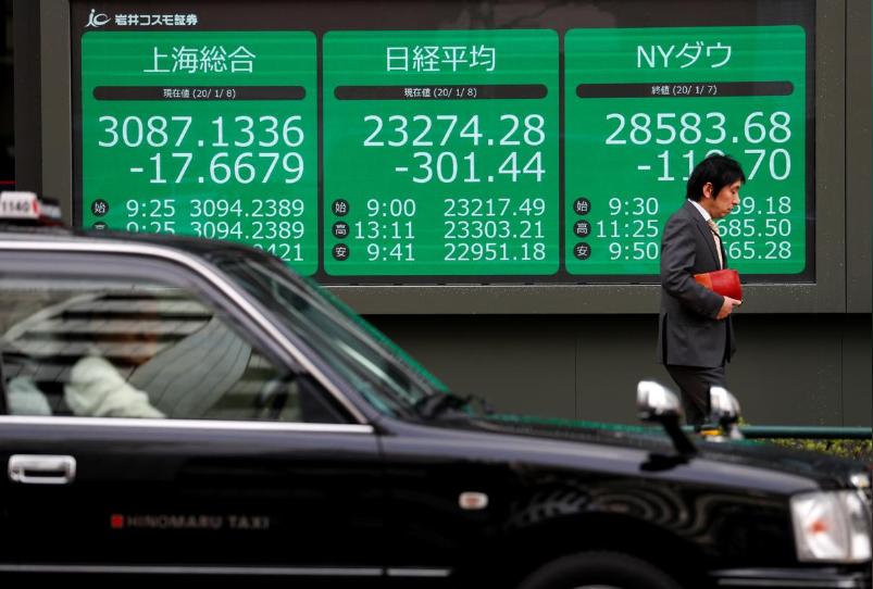 Lo ngại kinh tế thế giới suy thoái, chứng khoán châu Á giảm