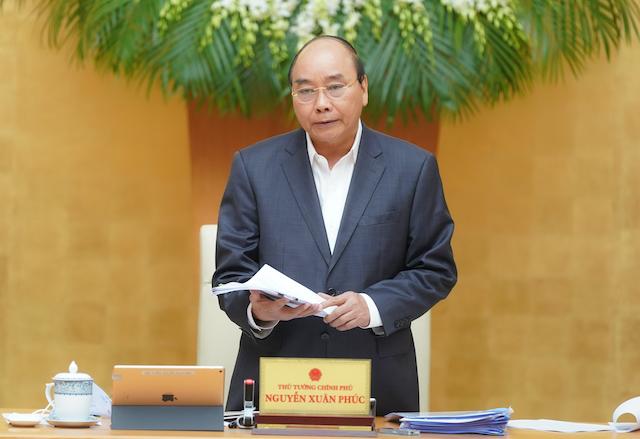Thủ tướng phát biểu kết luận phiên họp Chính phủ thường kỳ tháng 3/2020.
