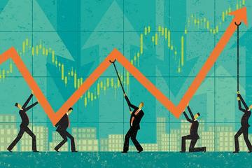 Cổ phiếu trụ đua nhau tăng trần, VN-Index lên gần 22 điểm