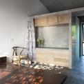 <p> Các viên gạch thông gió Bát Tràng được tùy chỉnh để giữ không khí trong ngôi nhà. Không gian trống trong gạch là lớp cách nhiệt giúp mặt tiền tránh được ánh mặt trời trực tiếp từ phía tây.</p>