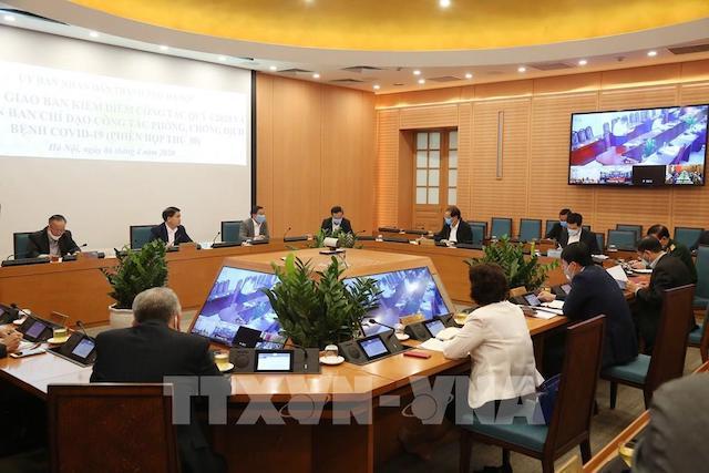 Hội nghị giao ban trực tuyến công tác quý I/2020 của UBND thành phố Hà Nội,.