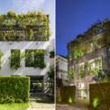 """<p> Ngôi nhà được xây dựng trên diện tích đất 252 m2 tại khu dân cư mới ở TP HCM, mang đậm """"bản sắc"""" kiến trúc của KTS Võ Trọng Nghĩa. Thiết kế tập trung xây dựng ngôi nhà trở thành một phần mở rộng của thiên nhiên khi tích hợp màu xanh công viên bên cạnh vào không gian chung.</p>"""