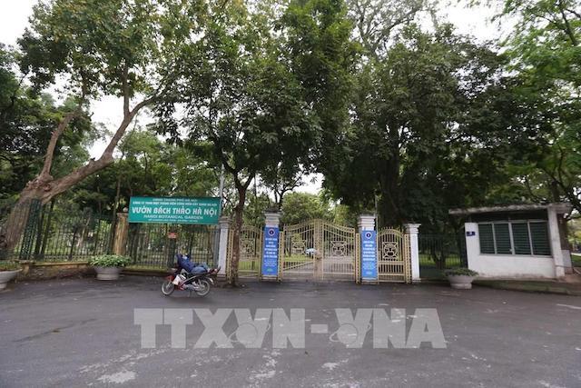 Vườn Bách Thảo Hà Nội thuộc Công ty TNHH MTV Cây xanh Hà Nội đóng cửa những ngày cách ly xã hội.
