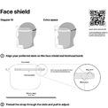 """<p class=""""Normal""""> Không giống như hầu hết các tấm chắn mặt y tế có một dải ngang màu xanh sáng kèm dòng chữ Face Shield ở phía trước, thiết kế của Apple đơn giản hơn rất nhiều. Tấm chắn mặt 3D của Apple chỉ bao gồm 3 phần: băng đeo trán, tấm chắn mặt và dây đeo silicon với đặc điểm dễ dàng đóng gói, điều chỉnh và vệ sinh.</p>"""
