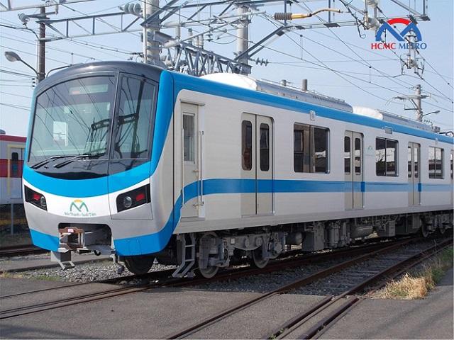 Đoàn tàu tuyến metro số 1 sắp được vận chuyển từ Nhật Bản về Việt Nam. Ảnh: MAUR