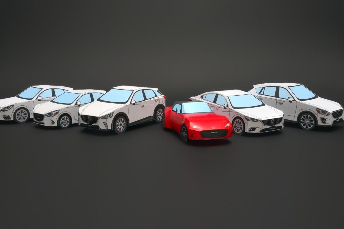 Mazda ra mắt mô hình 'xe giấy thủ công' cho MX-5 và Classic R360 Coupe
