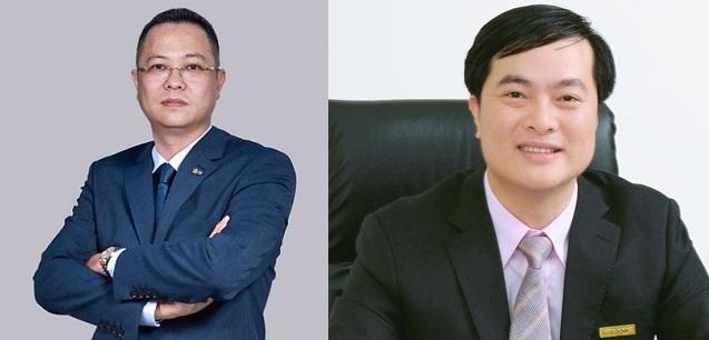Ông Lê Hải (trái) và ông Phạm Duy Hiếu (phải). Ảnh: MB, ABBank