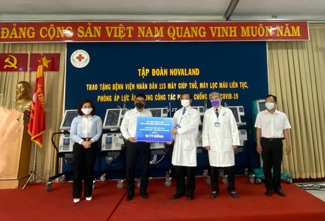 Novaland tặng trang thiết bị y tế trị giá 10 tỷ đồng cho Bệnh viện Nhân dân 115