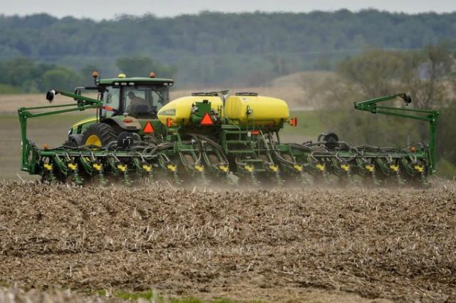 Thu hoạch đậu tương tại Mỹ. Ảnh: AP
