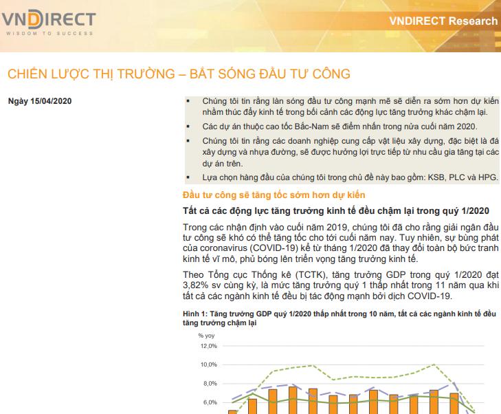 VNDirect: Bắt sóng đầu tư công