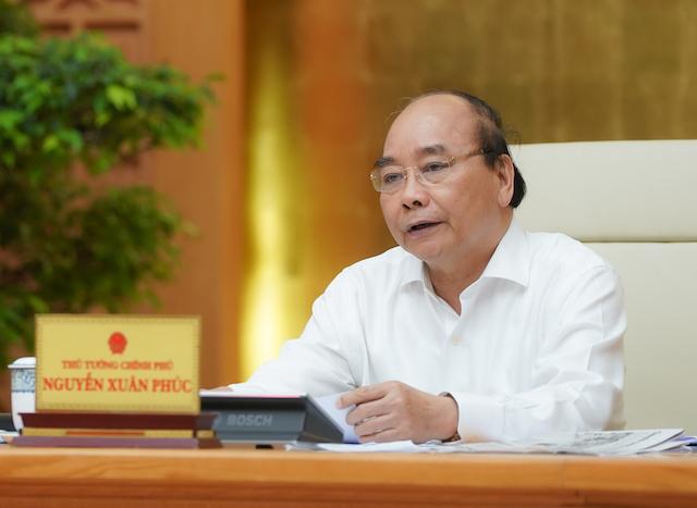 Thủ tướng kết luận cuộc họp Thường trực Chính phủ chiều 22/4. Ảnh: VGP/Quang Hiếu.