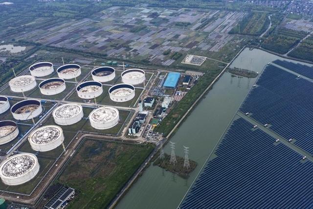 Một vấn đề khiến Trung Quốc không tranh thủ được giá dầu rẻ là sự hạn chế về kho lưu trữ. Ảnh: Bloomberg.