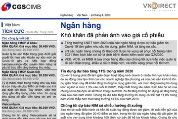 VNDirect: Ngành ngân hàng - Khó khăn đã phản ánh vào giá cổ phiếu