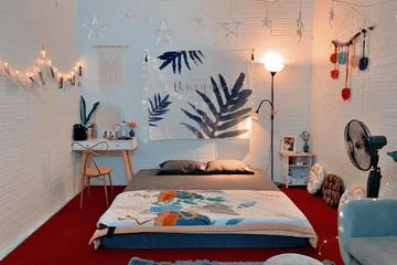 Phòng 18 m2 ở Hà Nội được cải tạo như homestay với chi phí chưa tới 10 triệu đồng