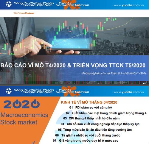 YSVN: Báo cáo vĩ mô tháng 4 và triển vọng thị trường chứng khoán tháng 5