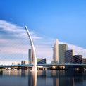 <p> Cầu Thủ Thiêm 2 là điểm nhấn kiến trúc nổi bật trên sông Sài Gòn, đồng thời được thiết kế biểu tượng cổng chào từ quận 1 qua Khu đô thị mới Thủ Thiêm.</p>