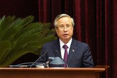 Ông Trần Quốc Vượng điều hành phiên họp Trung ương thảo luận phương hướng công tác nhân sự khoá XIII