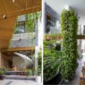 <p> Không gian bên trong ngôi nhà cũng được tạo dựng từ nhiều viên đá ong và cây cối.</p>