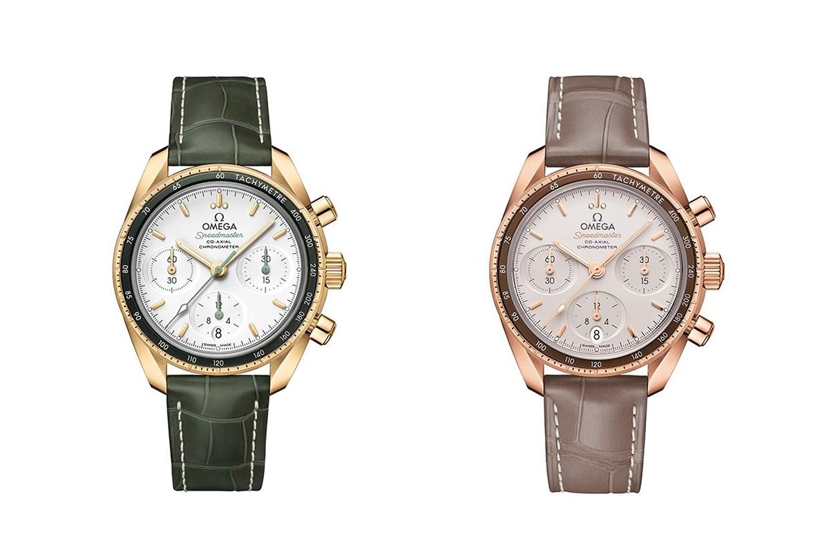 Omega nạm kim cương trên 2 mẫu đồng hồ mặt trăng Speedmaster mới