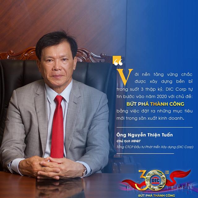 Chủ tịch HĐQT DIC Corp Nguyễn Thiện Tuấn. Ảnh: DIC Corp.
