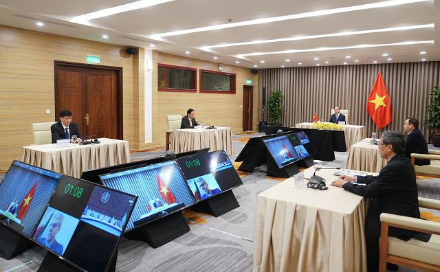 Khoá họp thứ 73 Đại hội đồng WHO được tổ chức trực tuyến – lần đầu tiên trong lịch sử tổ chức này. Ảnh: VGP/Quang Hiếu