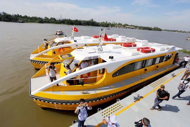 Buýt đường sông tại bến tàu Linh Đông, quận Thủ Đức, TP HCM.
