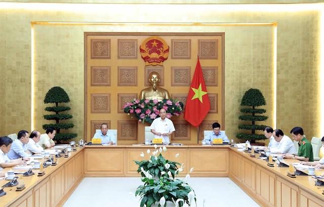 Thủ tướng tại buổi họp